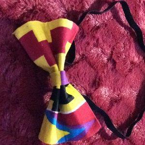 Other - New Handmade Kente print bow tie w/ elastic strap